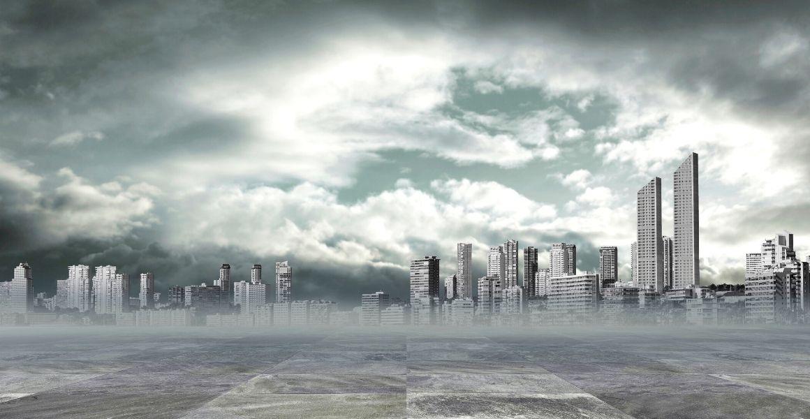 smog, smog nad miastem, zanieczyszczone powietrze