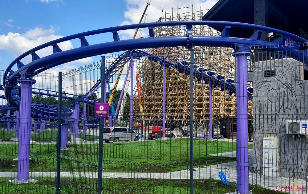 Smoczy Gród, drewniany rollercoaster zadra, klimatyzacja carline