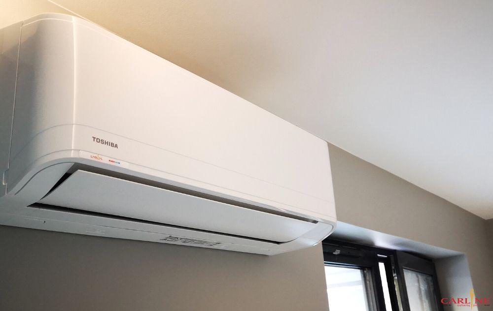 klimatyzator naścienny Toshiba, montaż klimatyzacji w mieszkaniu