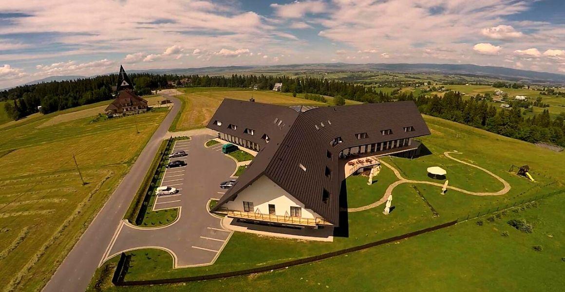 bachledówka hotel, realizacja carline, widok z lotu ptaka